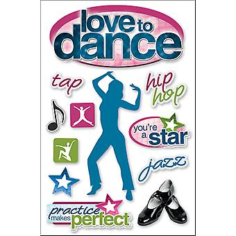 Paper House 3 D Sticker Love To Dance Stdm62e