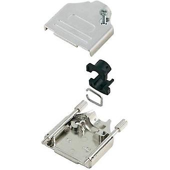 D-SUB housing Number of pins: 15 Metal 180 ° Silver MH Connectors MHDTZK15-K 1 pc(s)