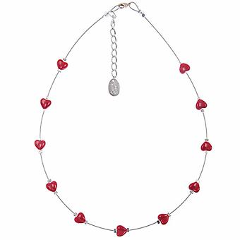 Carrie Elspeth Red Kisses Heart Necklace