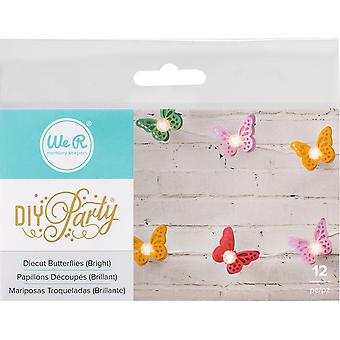 DIY Party Light Covers 12/Pkg-Butterfly Layers; Brights 662859