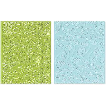 Sizzix Textured Impressions A2 Embossing Folders 2/Pkg-Bohemian Lace 657811