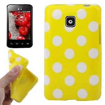 Protective case TPU points of case for mobile LG Optimus L3 II / E430