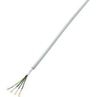 Alarm wire LiYY 4 x 0.14 mm² White Conrad Components SH1998C237 50 m