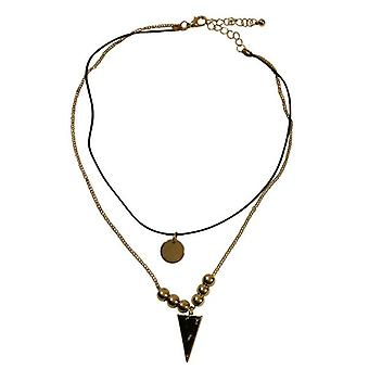 Thin minimalist statement choker necklace with black triangle