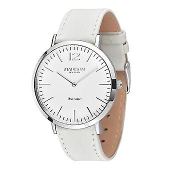 MADISON NEW YORK Damen Uhr Armbanduhr Avenue Leder L4741D
