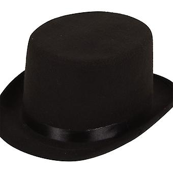 Adult Top Black Felt Hat Fancy Dress Accessory