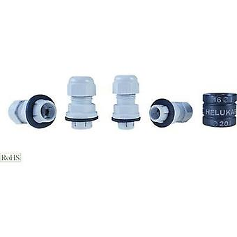 Cable gland M16 Polyamide Silver-grey (RAL 7001) Helukabel Helutop Easy 908060 1 pc(s)