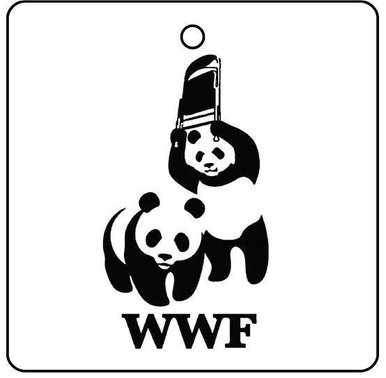 WWF Panda auto luchtverfrisser