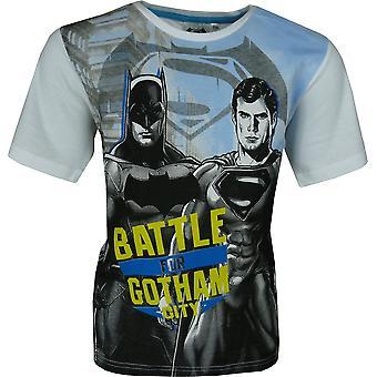 Drenge Batman & Superman kortærmet T-Shirt