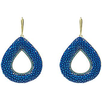 Stingray holle scheur Earring Royal Blue