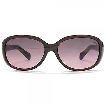 SUUNA Charlotte Small Oval Sunglasses In Plum