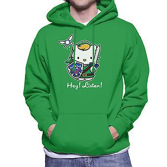 Hey lytte Link Hello Kitty Zelda mænds hættetrøje