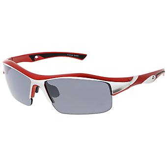 Semi-Rimless TR-90 Shatterproof Lens Sports Wrap Sunglasses 68mm