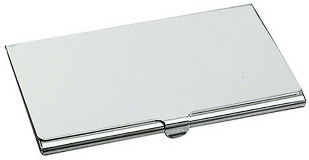 David Van Hagen Smooth Business Card Case - Silver