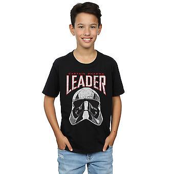 Star Wars Boys The Last Jedi Leader Helmet T-Shirt