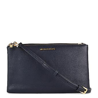 MICHAEL by Michael Kors Admiral 'navy' Leather Double Zip Crossbody Bag