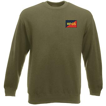 Military Provost Guard Embroidered TRF Logo - Official British Army Heavyweight Sweatshirt