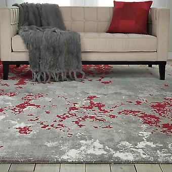 Twi21 tapis Nourison Twilight par Nourison en gris et rouge