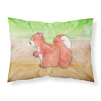 Squirrel Watercolor Fabric Standard Pillowcase