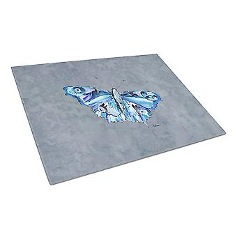 Carolines Treasures  8856LCB Butterfly on Gray Glass Cutting Board Large