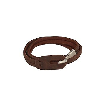 Baxter jewelry London leather jewelry bracelet dark brown Maritim total length 63 cm