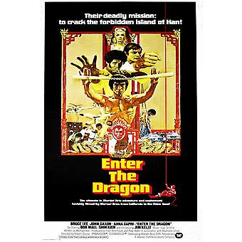 Enter the Dragon Movie Poster (11 x 17)