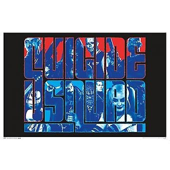 Black Light - Suicide Squad Group Poster Poster Print