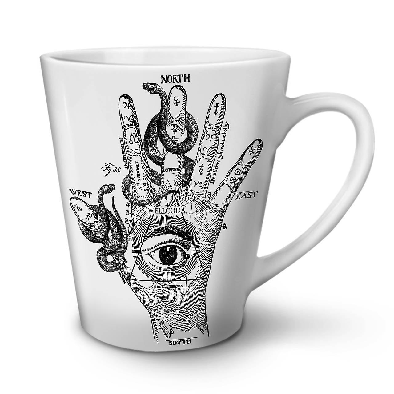 Mug White Hand Coffee Ceramic Tea Eye OzWellcoda Latte 12 New Triangle f6y7gb