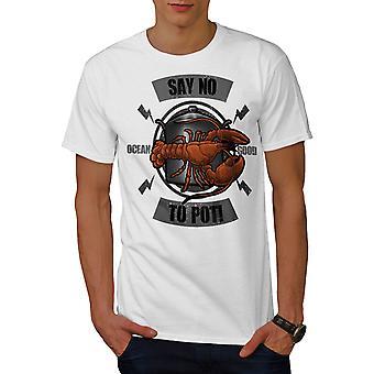 Say No To Pot Men WhiteT-shirt | Wellcoda