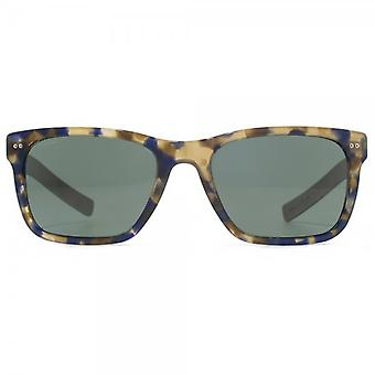 Giorgio Armani Frames Of Life Wood Temple Sunglasses In Blue Havana