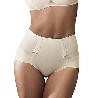 Rosa Faia 1712-047 Women's Lace Rose Champagne Off-White Full Panty Girdle Highwaist Brief