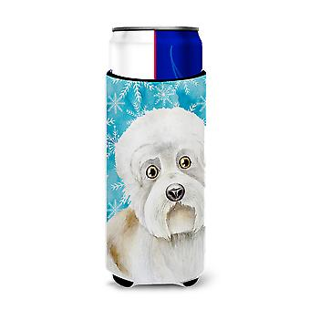 Dandie Dinmont Winter Michelob Ultra Hugger for slim cans