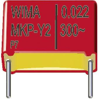 Wima MKY22W13303F00KSSD MKP-X2 suppression capacitor Radial lead 3300 pF 300 V AC 20 % 10 mm (L x W x H) 13 x 5 x 11 mm