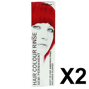 Semi Permanent Hair Dye by Stargazer - Rouge x 2 Packs