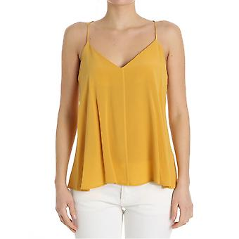 Ottod'ame ladies GINET86331504 yellow silk top