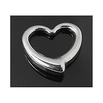 Packet 2 x Silver 304 Stainless Steel 16mm Heart Charm/Pendant ZX20175