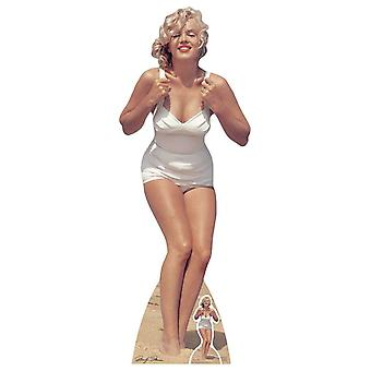 Marilyn Monroe hvid badedragt Lifesize pap påklædningsdukke