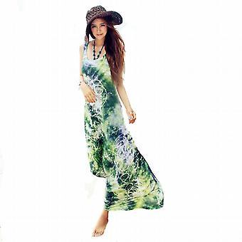 Waooh - Mode - Robe longue de plage imprimée - Vert