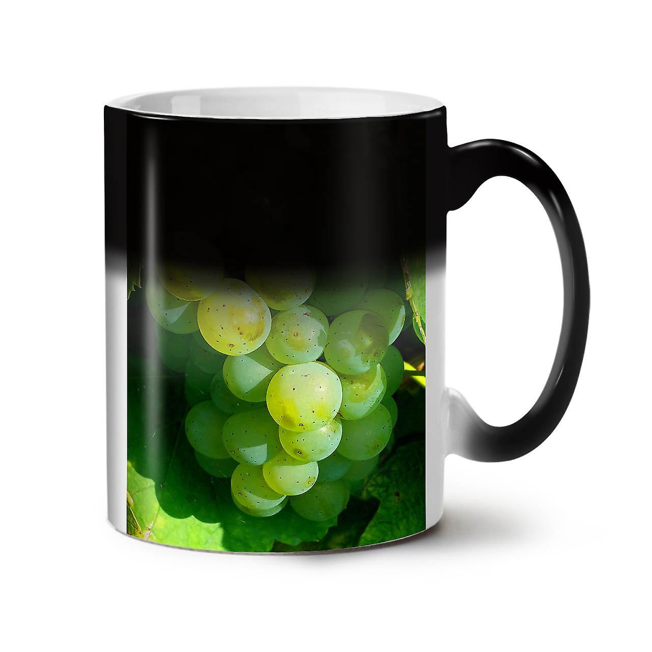 trauben wein foto essen neue schwarze farbe wechselnden tee kaffee keramik becher 11 oz. Black Bedroom Furniture Sets. Home Design Ideas