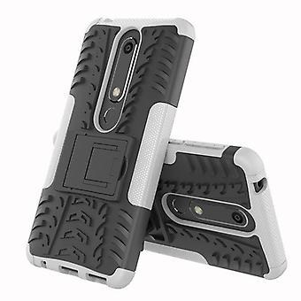 For Nokia 6 5.5 2018 hybrid sag 2 stykke SWL pose udendørs hvid tilbehør tilfælde dække beskyttelse