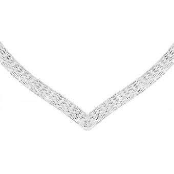 IBB London Chevron V Shaped Necklace - Silver
