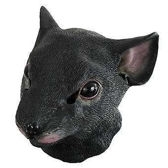 Mask full face mask mouse Black Rat animal mask Carnival