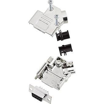 encitech D45PK-M-09-DMS-K D-SUB receptacle set 45 ° Number of pins: 9 Solder bucket 1 Set