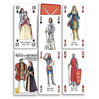 Kings & Queens Of England Set Of 52 Playing Cards (+ Jokers)