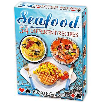 Seafood Recipes Set Of 52 Playing Cards (+ Jokers)