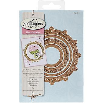 Spellbinders Nestabilities Decorative Elements Dies-Triple Tear