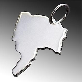 Trailer map POSES in solid 925 Silver Pendant