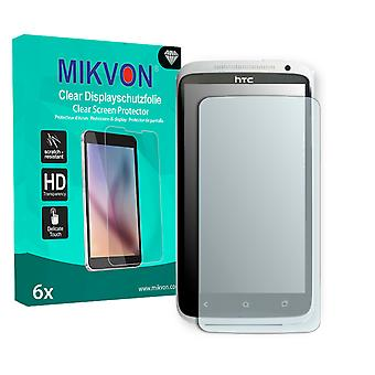 HTC X325S Screen Protector - Mikvon Clear (Retail Package with accessories) (intentionally smaller than the display due to its curved surface)