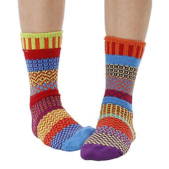 Cosmos recycled cotton multicolour odd-socks   Crafted by Solmate