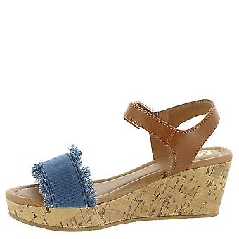 Kids MIA Amore Girls Rita Buckle Ankle Strap Wedge Sandals